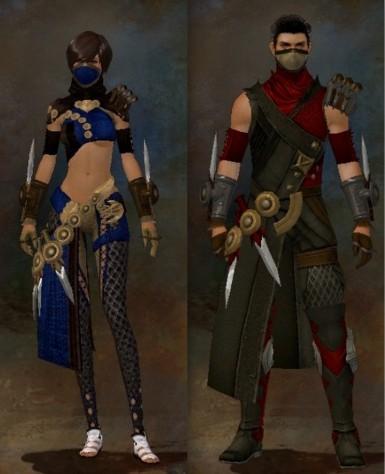 Tier 3 Human Cultural Armor Gender Comparison